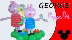 Video tutorial on how to make George Pig with balloons twisting #GeorgePig #PeppaPig