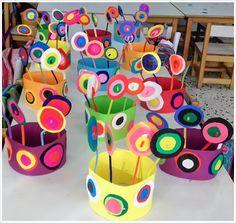 παιχνιδοκαμώματα στου νηπ/γειου τα δρώμενα: Kandinsky και αποκριάτικα καπέλα !!!