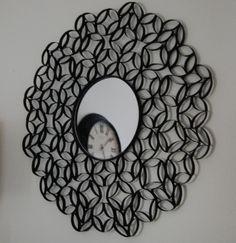 Mandalas feitas com miolo do rolo de papel higiênico