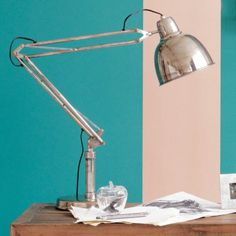 Otto Angled Table Lamp - View All Lighting - Lighting - Lighting & Mirrors Desk Lamp, Table Lamp, Mirror Shop, Mirror With Lights, Lighting, Room, House, Mirrors, Lamps