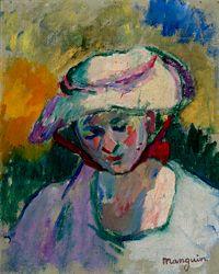 Henri Manguin, Jeanne au chapeau, 1905, huile sur toile, 28x22 cm, Collection particulière © Adagp, Paris 2015 © Claude Almodovar