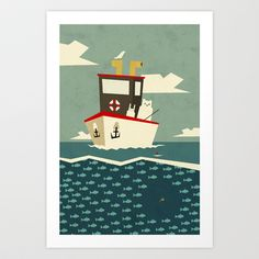 You can't always catch what you want Art Print by Yetiland - $19.00