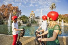 Guided Segway Tour with Jamón Experience in Barcelona Enjoy on this dynamic 2-hour guided tour on a segway with 1-hour Jamon experience. You will visit the most iconic sights in the city and after you will learn and enjoy a varied tasting of the exquisite Spanish ham.This tour offers the best of the coast for more than 15 kilometers aboard your Segway, and the spectacular Jamon Experience.The tour goes through the Port Vell and the Moll de la Fusta to finish in the Maremagnum'...
