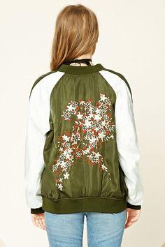 Embroidered Souvenir Jacket   Forever 21 - 2000232079