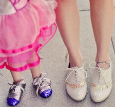 Twinkle toes: DIY Glittered Shoes