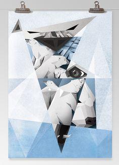 Polar Bear by ANDRES SEGNINI, via Behance