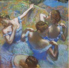 Эдгар Дега, Голубые танцовщицы, 1897 , ГМИИ им. Пушкина, Москва