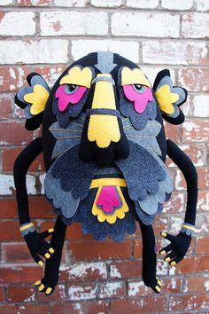 Bulbobo - Totem Detail by Felt Mistress, via Flickr