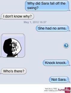 100% the absolute best knock knock joke ever!!!!!!!!!!!