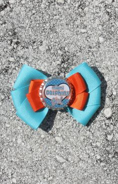 Miami Dolphins Miami Hair Bow Dolphins Hair Bow NFL by bowsforme, $6.00