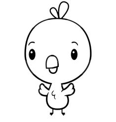 Baby Animal Chick Coloring Page Printable Templates