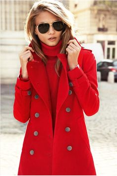 I really like the idea of having a red coat to wear in the winter when the weather gets so dreary. I wear a lot of neutrals but this would be a nice way to brighten things up for a part of the day.
