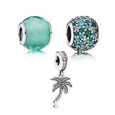 100% authentique 925 Sterling Silver Blue Tree perles ronde se adapte Pandora perles Bracelet été Style perles Sterling argent bijoux dans Perles de Bijoux sur AliExpress.com | Alibaba Group