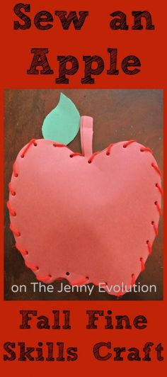 Fall Apple Craft with Fine Motor Skills Practice | The Jenny Evolution