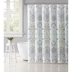Vcny Home Amherst Medallion 72 Inch X Shower Curtain Multicolor