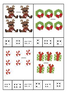 Juf Berdien zelfgemaakte telkaarten met getalbeelden thema kerstmis kleuters klas Christmas Activities For Kids, Winter Activities, Preschool Activities, Christmas Crafts, Crafts For Kids, Saint Nicolas, Preschool Lessons, Winter Theme, Kids Learning