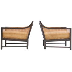 Pair of Lounge Chairs Edward Wormley | From a unique collection of antique and modern lounge chairs at https://www.1stdibs.com/furniture/seating/lounge-chairs/