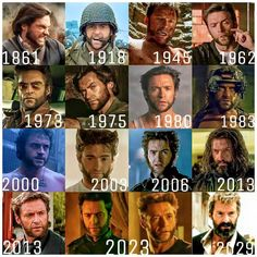The Wolverine (Hugh Jackman) timeline and aging on screen. Marvel Wolverine, Wolverine Logan, Marvel Comics, Wolverine Movie, Hq Marvel, Marvel Comic Universe, Marvel Heroes, Marvel Characters, Marvel Cinematic Universe