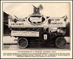 Lincoln Highway Advertisement, Trenton, New Jersey