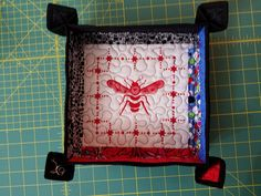 Quilted Tray -made from quilt block.  Good way to use mom's unfinished blocks?