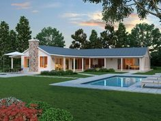 Tremendeous L Shaped House With Porch Captivating Home Ideas Best Interior Porkbelly. l shaped house plans with porches. Modern Farmhouse Plans, Modern House Plans, Small House Plans, Farmhouse Design, House Floor Plans, Modern House Design, Country Farmhouse, House Plans With Pool, Simple Ranch House Plans