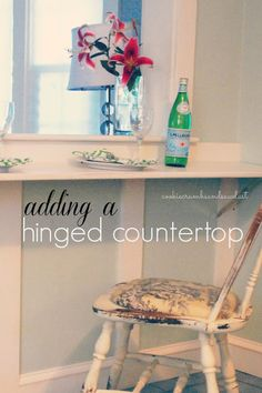 hinged countertop