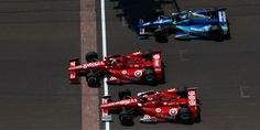 2012 Indy 500 finishes under caution, with Dario Franchitti, Scott Dixon, and Tony Kanaan crossing 1,2,3.  Great shot from Indycar.com