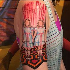 Grady Twins Tattoo by Dani Blalock Horror Movie Tattoos, Scary Tattoos, Skull Tattoos, Body Art Tattoos, Horror Movies, Twin Tattoos, Love Tattoos, Tattoos For Guys, Stephen King Tattoos