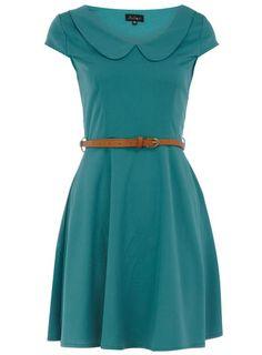 Green peter pan collar dress
