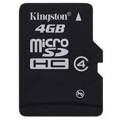 Buy online #Kingston 4GB Micro SDHC Class 4 #Memory #Card @ p3store.com for Rs.160/-