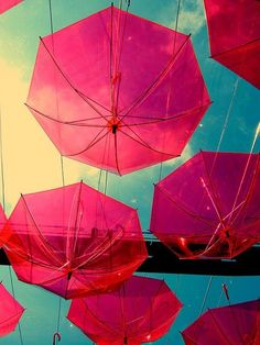 and 1 for a rainy day :) umbrella Pink Umbrella, Under My Umbrella, Beach Umbrella, Umbrellas Parasols, Jolie Photo, Everything Pink, Photomontage, My Favorite Color, Color Inspiration