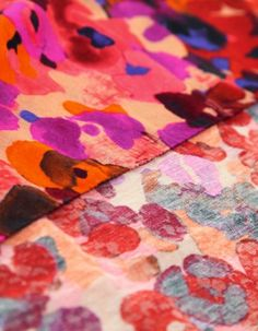 Multi-Coloured Floral Scarf