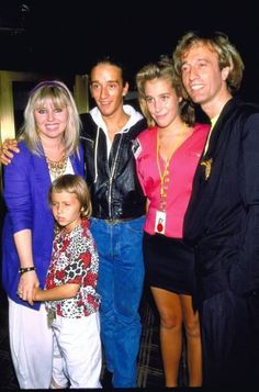 Dewina,  Robin John, Spencer, Margaret and Robin Gibb