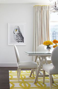 We love this bird art in the Ritz-Carlton Showcase apartment designed by Samantha Todhunter - Traditional Home® | Find more animal artwork at Saatchi Art: http://www.saatchiart.com/all?query=animals