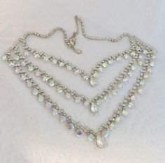 Kirks Folly Huge Rhinestone Necklace Layered by LadyandLibrarian, $139.00