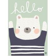 Poster Polar Bear Hello