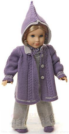 Вязание одежды куклы