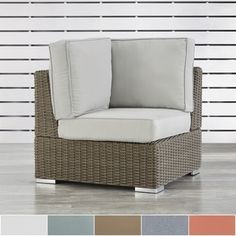 Shop for Barbados Mocha Wicker Outdoor Cushioned Sectional Corner Chair by NAPA LIVING. Get free delivery at Overstock.com - Your Online Garden