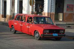 Lada limousine, Santa Clara, Cuba by iancowe, via Flickr