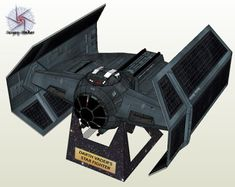 In Star Wars Episode IV during the battle to destroy the Death Star, Darth Vader pilots an advance prototype starfighter known as the TIE Advanced x1. Unlike most TIE fighters, this particular version was equipped with a hyperdrive. This paper model of the TIE/x1 is the work of Sergey-Haker at swmodel.ru.