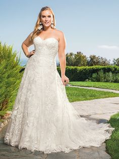 Casablanca Bridal for RK Bridal, it's where you buy your gown ® Designer Wedding Dresses, Bridal Dresses, Wedding Gowns, Plus Size Brides, Plus Size Wedding, Fit And Flair, Casablanca Bridal Gowns, Backless Lace Wedding Dress, Strapless Sweetheart Neckline