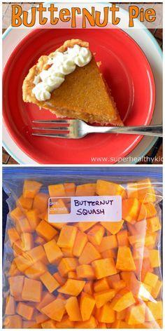 It's butternut, but it tastes like pumpkin pie!