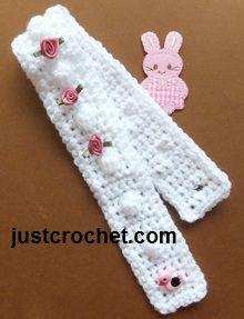 Free baby crochet pattern for newborn bobble headband http://www.justcrochet.com/bobble-headband-usa.html #justcrochet