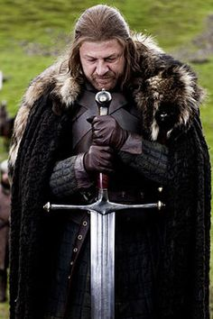 Ice was a Valyrian steel greatsword and an heirloom of House Stark. It was used both in war and on ceremonial occasions by the Lord of Winterfell. Ice had been in the possession of House Stark for generations and was kept in a special scabbard made from the pelt of a wolf.
