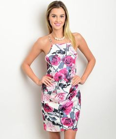 Shop the Trends Ivory Floral Halter Dress Feminine Dress, Fashion Tips, Fashion Design, Ivory, Floral, How To Wear, Outfits, Clothes, Dresses