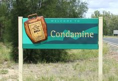 Condamine Town Entry Sign / Danthonia Designs