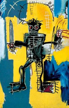 Warrior - Basquiat, Jean-Michel (American, 1960 - Fine Art Reproductions, Oil Painting Reproductions - Art for Sale at Galerie Dada Jean Basquiat, Jean Michel Basquiat Art, Basquiat Paintings, Art Walk, Naive Art, Mellow Yellow, Art Reproductions, Les Oeuvres, Art Inspo