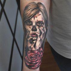 f5e18a0ae Tattoos by Benjamin Laukis Sugar Skull Sleeve, Sugar Skull Tattoos, Sugar  Skulls, Makeup