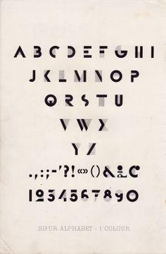 MR. MULE's TYPOGRAPHIC SHOWROOM AND EMPORIUM: Adolphe Mouron Cassandre - Bifur promotional brochure