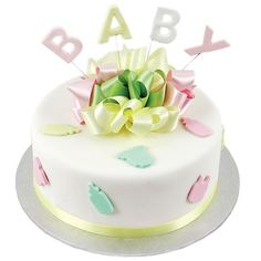 Baby Bottles and Bibs Cake - Two Tiers $63